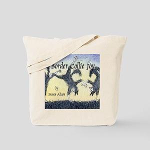 Border Collie Joy cover pic Tote Bag