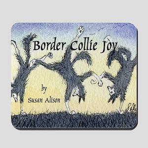 Border Collie Joy cover pic Mousepad