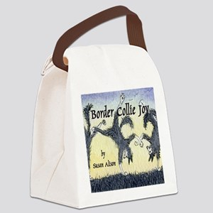 Border Collie Joy cover pic Canvas Lunch Bag