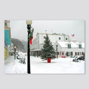 MackinacChristmasPoster3o Postcards (Package of 8)