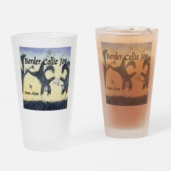 Border Collie Joy cover pic Drinking Glass