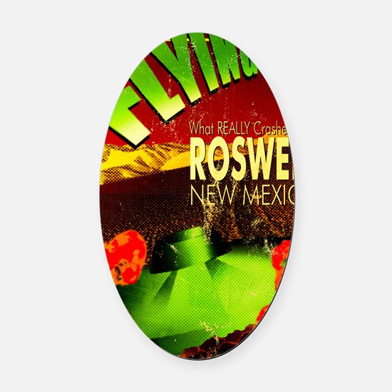 Roswell Poster Oval Car Magnet