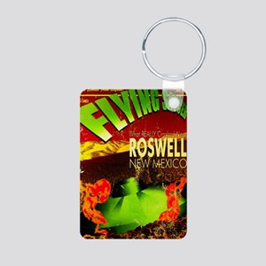Roswell Poster Aluminum Photo Keychain