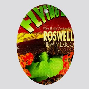 Roswell Poster Oval Ornament