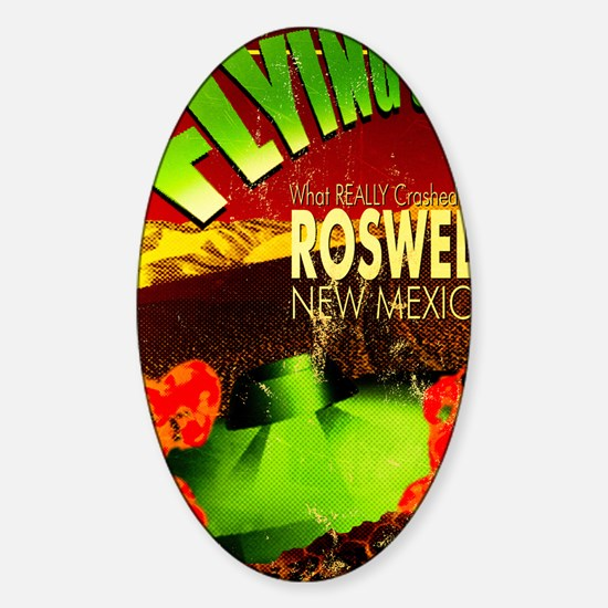 Roswell Poster Sticker (Oval)