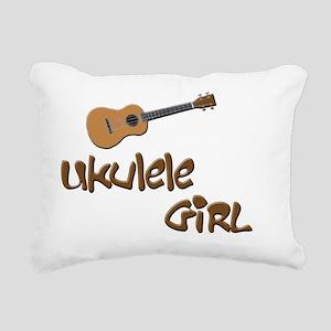ukulele girls Rectangular Canvas Pillow