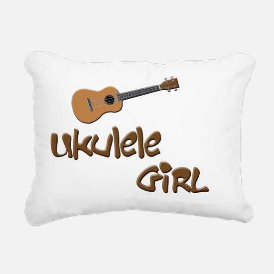ukulele girls Rectangular Canvas Pillow