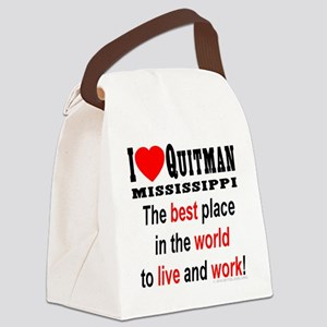 ilovequiutman_4redwords Canvas Lunch Bag