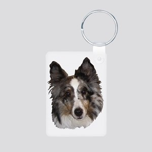 Sheltie4 Aluminum Photo Keychain