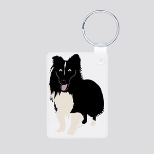 CartoonSheltie1 Aluminum Photo Keychain