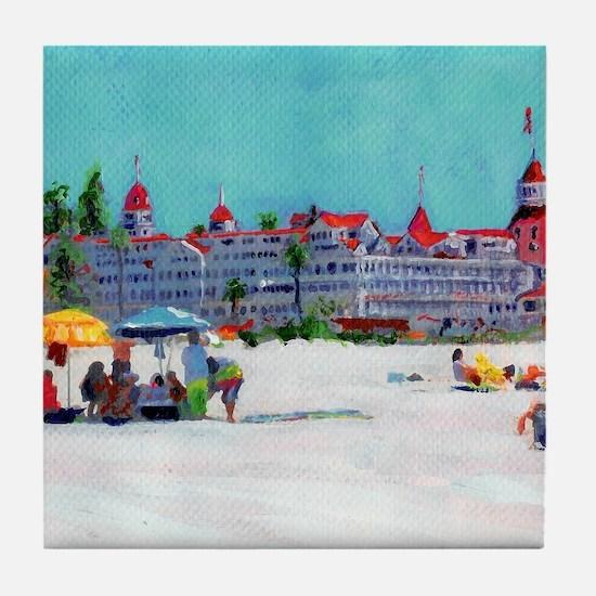 hotel del coronado picture Tile Coaster