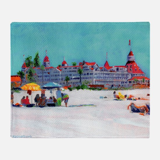 hotel del coronado picture Throw Blanket