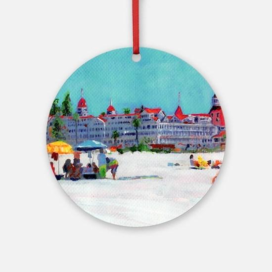 hotel del coronado picture Round Ornament