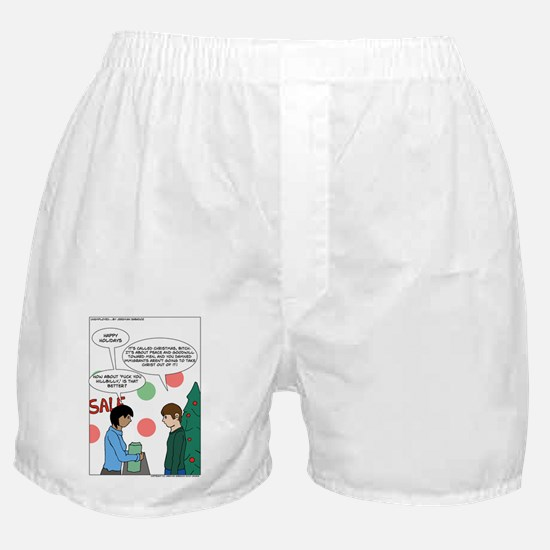 Unemployed...xmas Boxer Shorts