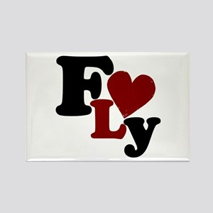 Fly (Heart) Rectangle Magnet