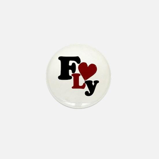Fly (Heart) Mini Button