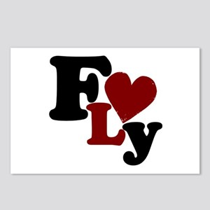 Fly (Heart) Postcards (Package of 8)