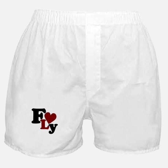 Fly (Heart) Boxer Shorts