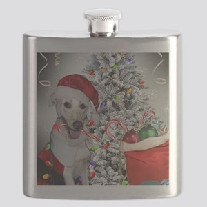 Chris Mirokes white lab decorates Flask