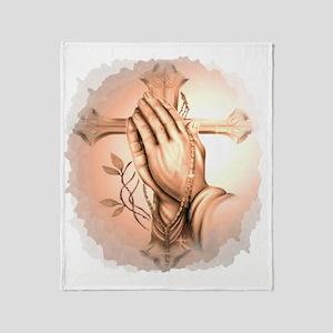 Praying Hands Throw Blanket