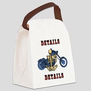 details-skel-T Canvas Lunch Bag