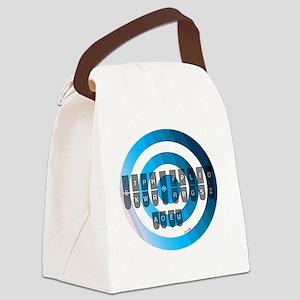 steno_keyboard_chart__blue Canvas Lunch Bag