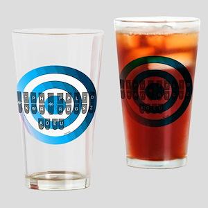 steno_keyboard_chart__blue Drinking Glass