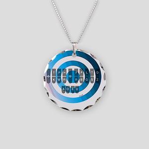steno_keyboard_chart__blu Necklace Circle Charm