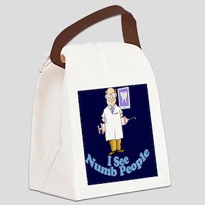 ISeeNumbPeopleDentistdkblue Canvas Lunch Bag