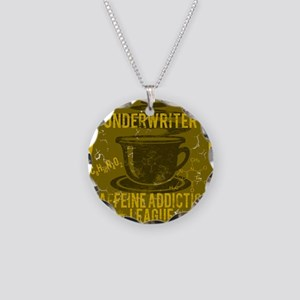 UNDERWRITER Necklace Circle Charm