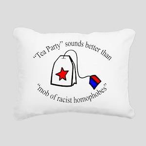 anti-tea party T-shirt d Rectangular Canvas Pillow
