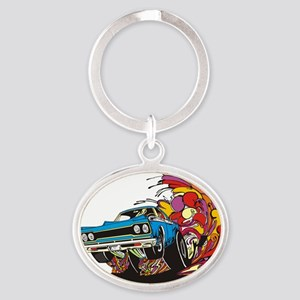 muscle Oval Keychain
