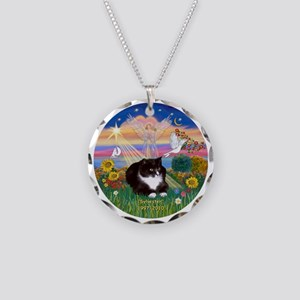 ORN-AutumnAngel-SYLVESTER ca Necklace Circle Charm