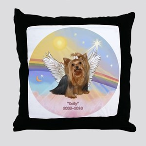 ORN-Clouds=Yorkie DOLLY Throw Pillow