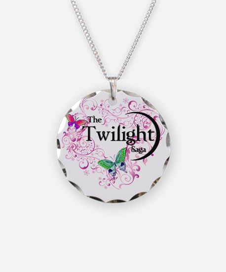 Vampire Butterfly Pink Necklace