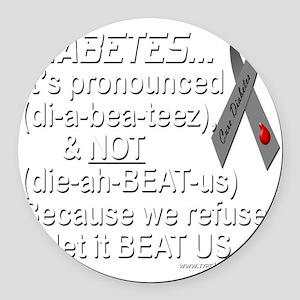 diabeetus Round Car Magnet
