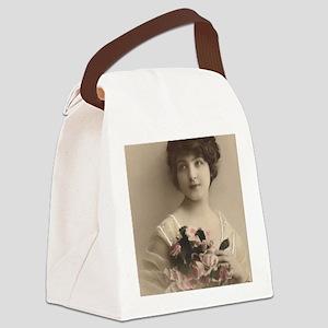 Lunagirl vintage beauties ladies  Canvas Lunch Bag