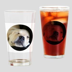 RoundSleepingPuppy Drinking Glass