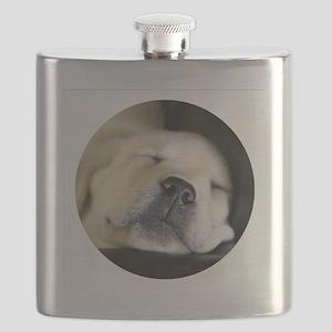 RoundSleepingPuppy Flask