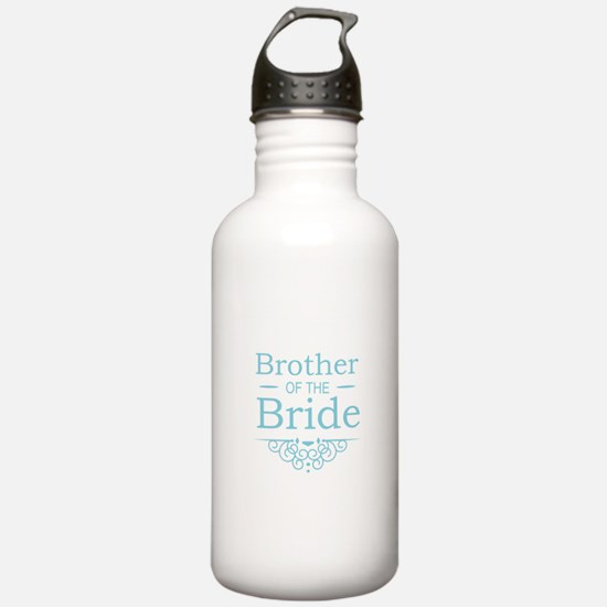Brother of the Bride blue Sports Water Bottle
