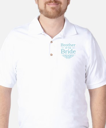Brother of the Bride blue Golf Shirt