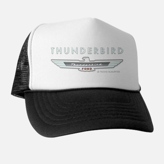 T Bird Emblem_embossed_1_blk Trucker Hat