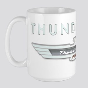T Bird Emblem_embossed_1_blk Large Mug