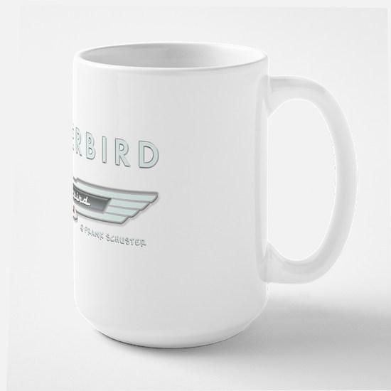 T Bird Emblem_embossed_1_blk Large Mug