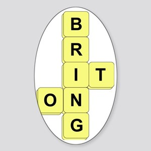 BananaGram_front Sticker (Oval)