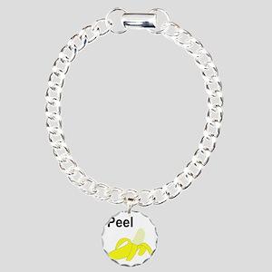 BananaGram_back Charm Bracelet, One Charm