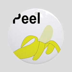 BananaGram_back Round Ornament