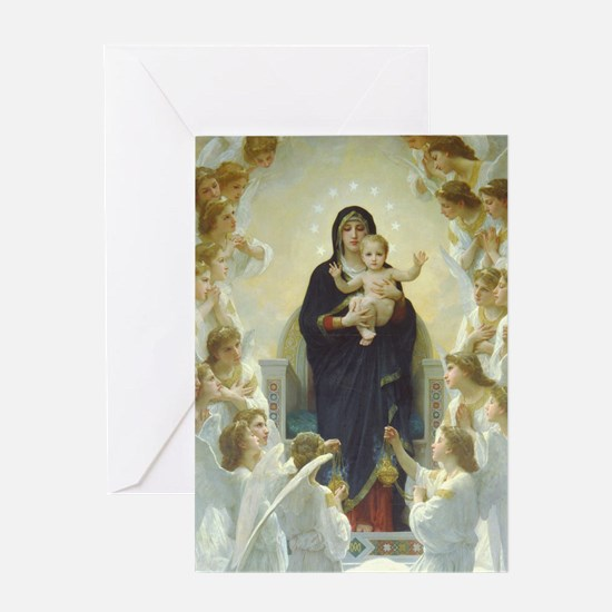 Bouguereau Art calendar January Greeting Card