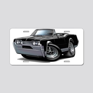 1967 Olds Cutlass Black Con Aluminum License Plate