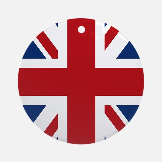 union-jack_13-5x18 Round Ornament